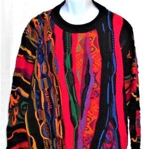 Coogi Australia Vtg 100% Wool Crew Neck Sweater L